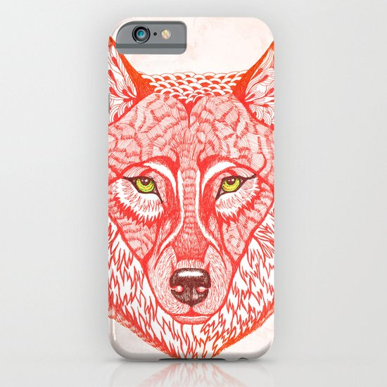 Red wolf iPhone & iPod Case