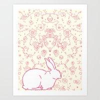 Rabbit Collaboration Art Print