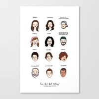 Gilmore Girls Mood Chart Canvas Print