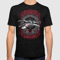 Rogue Leader Mens Fitted Tee Tri-Black SMALL