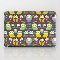 Owls and flowers iPad Case