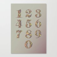 Illustrated Numbers Canvas Print