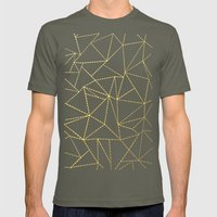 Ab Dotted Gold Mens Fitted Tee Lieutenant SMALL