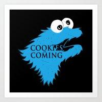 Cookies are coming Art Print
