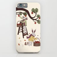 iPhone & iPod Case featuring Autumn Apple Picking by Robert Scheribel