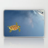 hawksbill swimming in the sky Laptop & iPad Skin
