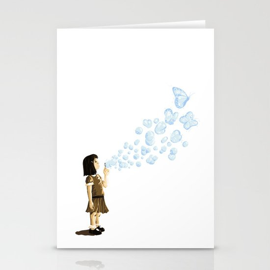 Bubbles Stationery Card