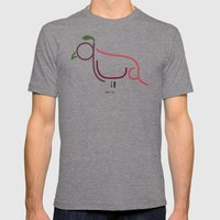Q- Quail Mens Fitted Tee Tri-Grey SMALL