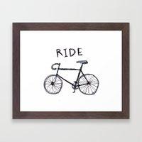 bike ride Framed Art Print