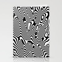 Trippy Background Stationery Cards