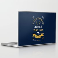 map Laptop & iPad Skins featuring Marauder's Map by Dorothy Leigh