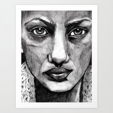 Pencil Portrait Art Print