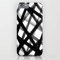 Criss Cross Black and White iPhone 6 Slim Case