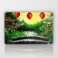 A Bridge Over Placid Wat… Laptop & iPad Skin