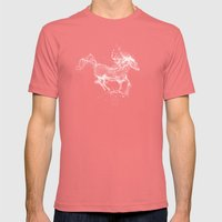 The Water Horse Mens Fitted Tee Pomegranate SMALL