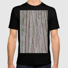 TEXTURES --  Cedar Bark Mens Fitted Tee Black SMALL