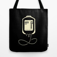 Coffee Transfusion - Black Tote Bag