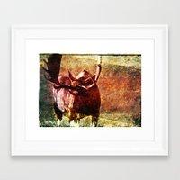 Rustic Moose Framed Art Print