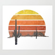 Runnin' Into The Sun Art Print