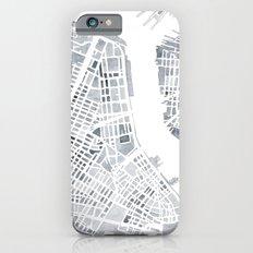 Map Manhattan Gray NYC Slim Case iPhone 6s