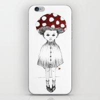 Mushroom Girl iPhone & iPod Skin