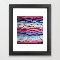 Colour Waves Framed Art Print