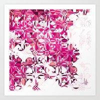 Zellige | 002 Magenta Art Print