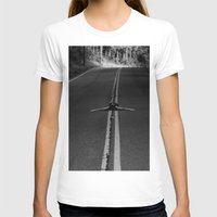risky business  Womens Fitted Tee White SMALL
