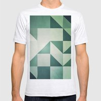 :: Geometric Maze X :: Mens Fitted Tee Ash Grey SMALL