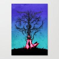 Red Riding Hood Big Bad … Canvas Print