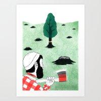 Man & Nature - The Doubl… Art Print