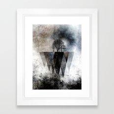 TREES over MAGIC MOUNTAINS II Framed Art Print
