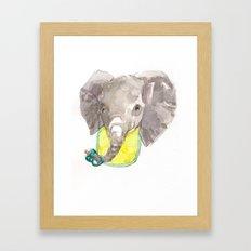 Elephant baby Framed Art Print