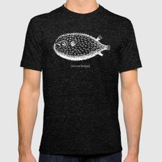 knowledge puffs up Mens Fitted Tee Tri-Black SMALL