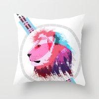 Leon Neon Throw Pillow