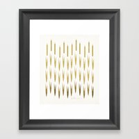 Gold Cattails Framed Art Print