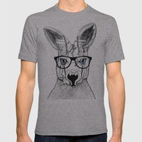 kangaroo Mens Fitted Tee Athletic Grey SMALL
