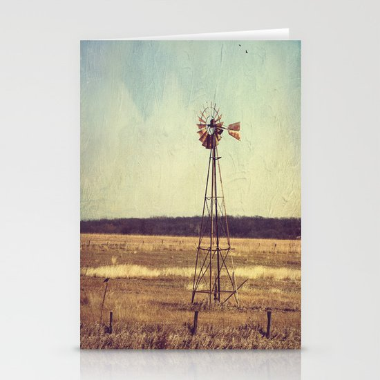 Alone on the Prairie  Stationery Card