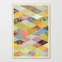 RHOMB SOUP / PATTERN SER… Canvas Print
