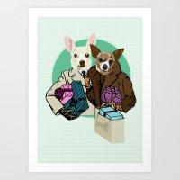 C & Y Shopping Chihuahua… Art Print