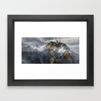 Clouds Vista Framed Art Print