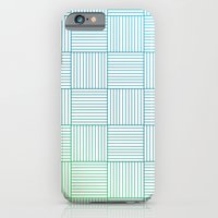 iPhone & iPod Case featuring Woven Squares in Blue and Green by One Curious Chip