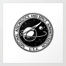 Vintage NASA logo Art Print