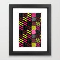 Crazier Pattern Framed Art Print