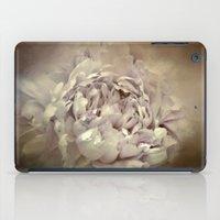 Blushing Dutch White Peony - Floral iPad Case