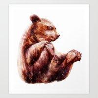 little grizzly bear Art Print
