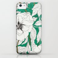 Green Peonies iPhone 5c Slim Case