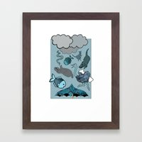 Raining Animals Framed Art Print