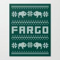 Fargo Sweater Canvas Print