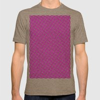 PINK DOT - SMALL - Mens Fitted Tee Tri-Coffee SMALL